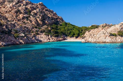 Paradise beach with white sand in Sardinia, Italy
