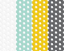 Seamless Rattan Pattern In Flat Style, Vector Art