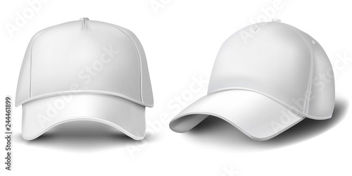 Carta da parati  Baseball cap isolated on white background.