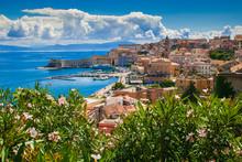 Veduta Panoramica Di Gaeta Sul Mar Tirreno In Estate