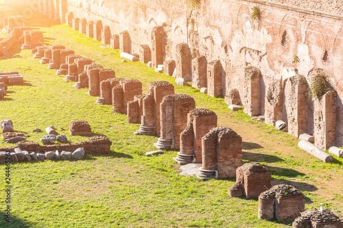 Valokuva  Ruined columns ancient Hippodrome of Domitian in Rome, Italy
