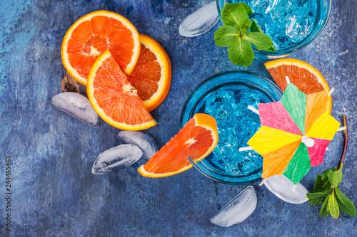 Fototapety, obrazy: Blue lagoon cocktail