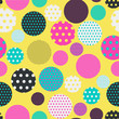 dots circles seamless tile in bright pop shades