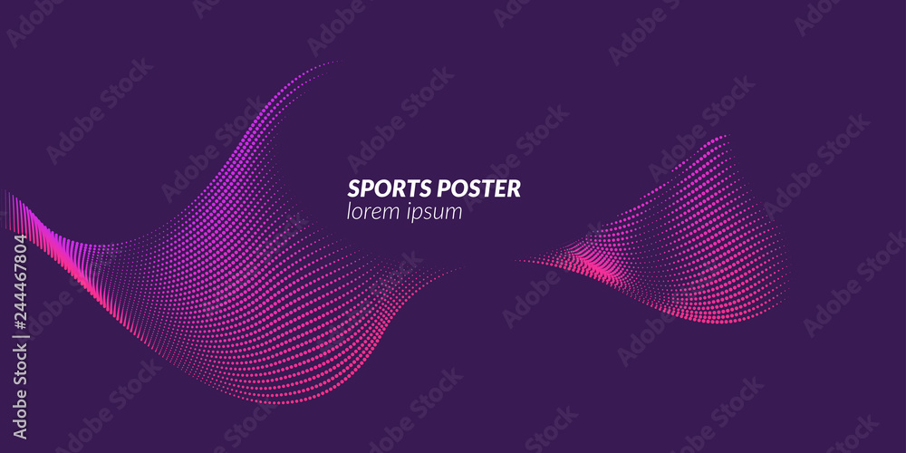 Colored poster for sports. Illustration suitable for design