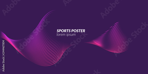 Photo  Colored poster for sports. Illustration suitable for design
