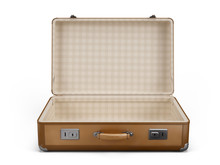 Vintage Open Suitcase Isolated...