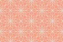 Flower Geometric Pattern. Seam...