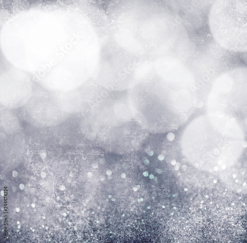 Fototapeta Abstract gray grunge bokeh background