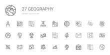 Geography Icons Set