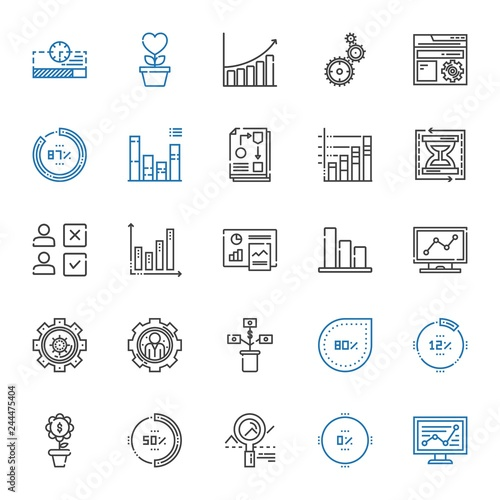 Fotografía  progress icons set