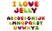 Colorful Jelly Alphabets For Kids