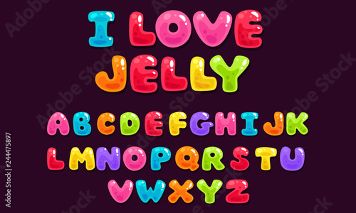 Photo Jelly colorful bold kid font