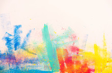Abstract Watercolor Splatter Color Background, Colorful Paint Drops Ink Splashes Grunge Card Design.