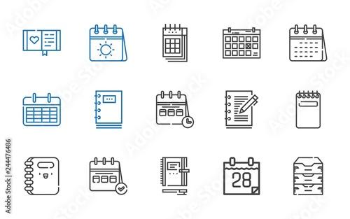 Cuadros en Lienzo organizer icons set