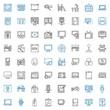 screen icons set