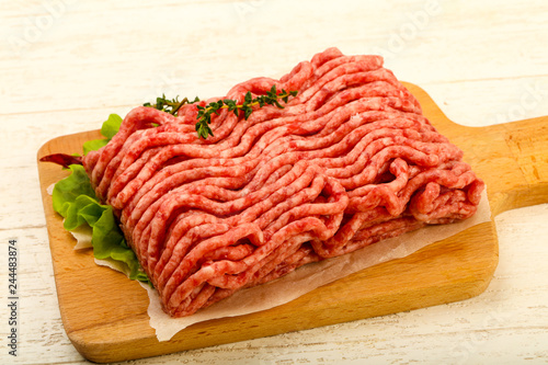 Fotografia  Raw minced beef meat