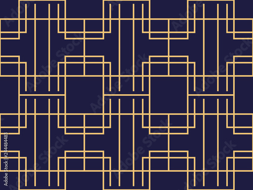 Papel de parede  Art deco seamless pattern