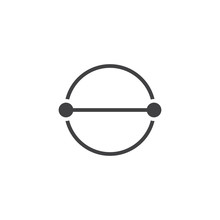 Circle Diameter Vector Icon. Filled Flat Sign For Mobile Concept And Web Design. Diameter Measure Simple Solid Icon. Symbol, Logo Illustration. Pixel Perfect Vector Graphics