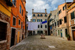 Drying Linen in Venice, Italy