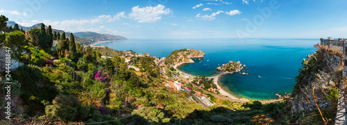 Recess Fitting Mediterranean Europe Taormina view from up, Sicily