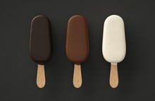 Three Ice Creams Three Chocola...