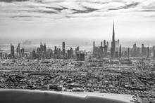 Aerial View Of Dubai Skyline I...
