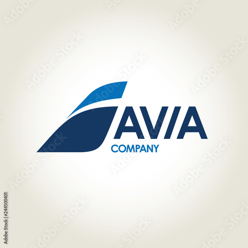 Photo avia company vector logo
