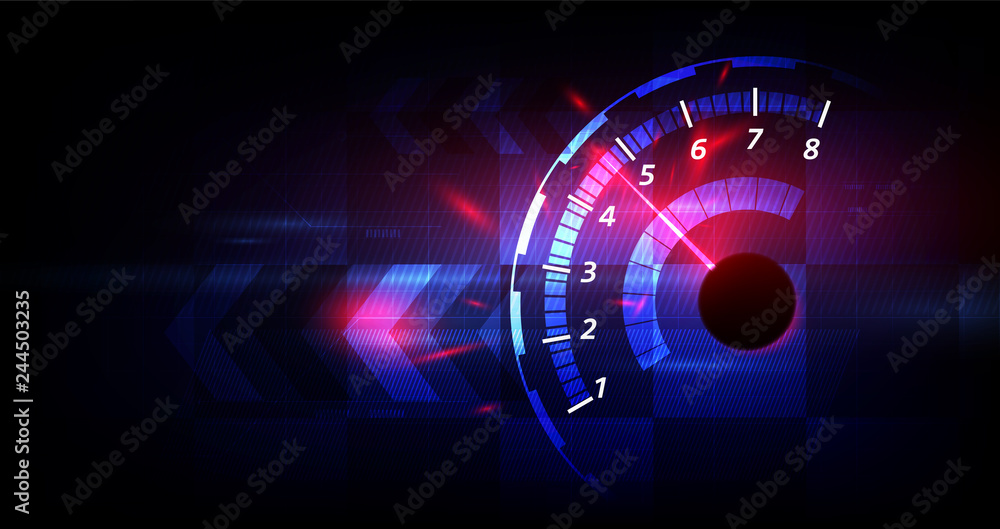 Fototapeta Racing speed background, vector illustration abstraction in car track