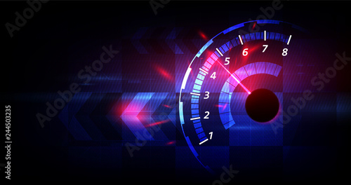 Photo Racing speed background, vector illustration abstraction in car track