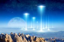 Alien Arrival On Planet Earth,...