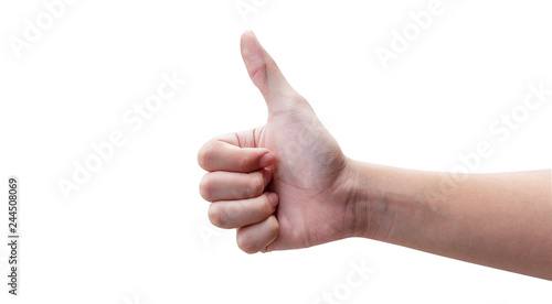 Fotografia  hands showing thumbs up or very good symbol