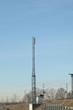 telecom tower on a blue sky