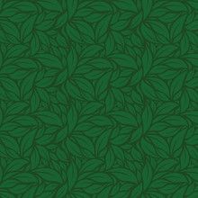 Green Leaves Vector Pattern