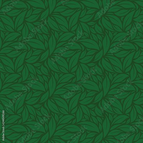 green leaves vector pattern Wall mural