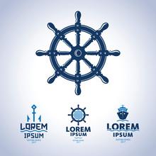 Sea Logo. Ship Emblem
