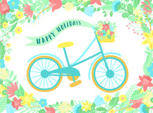 Vector Image Of A Bicycle With...