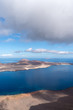 Canary Islands, Graciosa island view from observation point Mirador del Rio