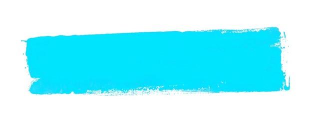 Leerer schmutziger Farbstreifen hellblau