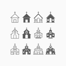 Church Icon Set, Church Vector