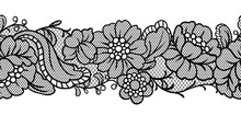 Seamless Lace Pattern With Flo...