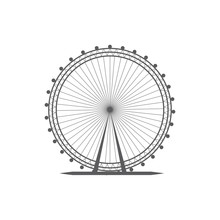 London Eye Icon Vector. London...