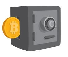 Bitcoin Money Entering Safe