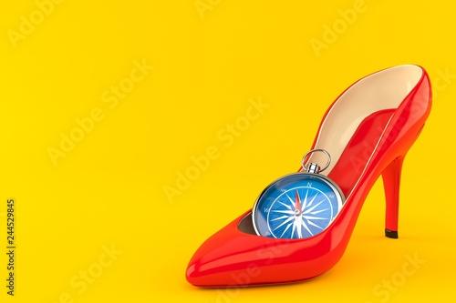 Fotografía  Red heel with compass