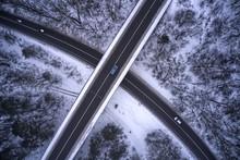 Crossing Bridge In City Outski...