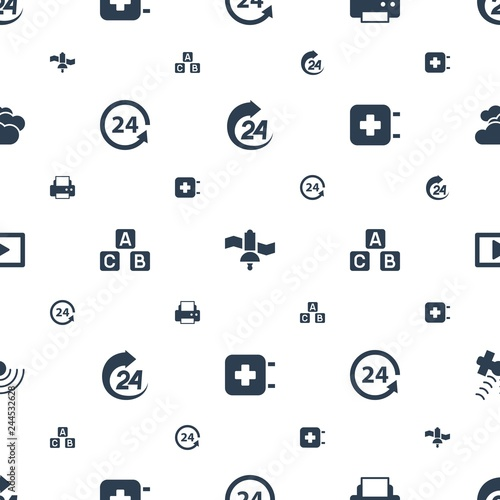 Fotografía  glossy icons pattern seamless white background