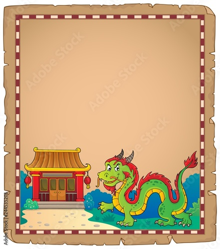 Chinese dragon theme parchment 1