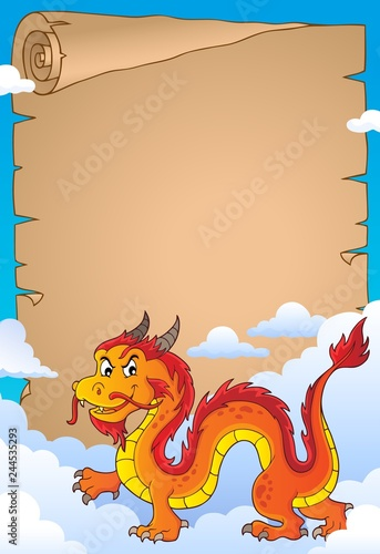 Chinese dragon theme parchment 3