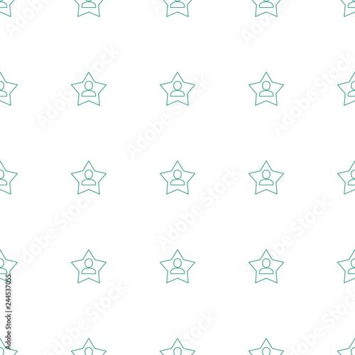 Fotografie, Obraz  favourite user icon pattern seamless white background