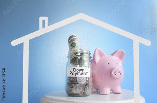 Fototapeta Home down payment money obraz