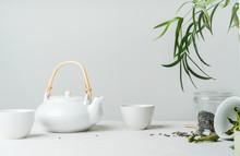 Asian Tea Concept, Two White C...